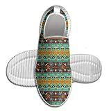 DiamondsJun Unisex Ethnic Retro Navajo Motif Pattern All Over 3D Printed Mesh Slip On Fashion Comfortable Shoes 41