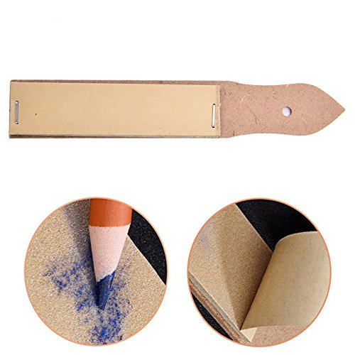 SNNplapla 1X Sandpaper Pencil Pointer Sharpener Pointer Sand Paper DIY Drawing Art Drawing