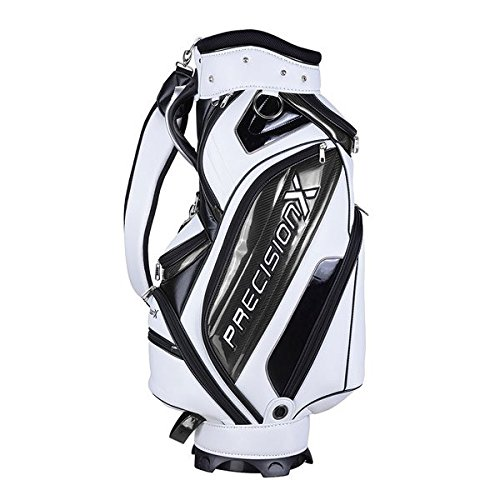 TRIPREL INC. 5-Way Golf Club Stand & Carry Bag w/ Bag Cap - White w/ Black Trim by Triprel Inc (Image #7)