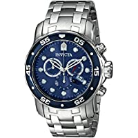 Invicta Men's 0070 Pro Diver Collection Stainless Steel Watch with Link Bracelet - Blue