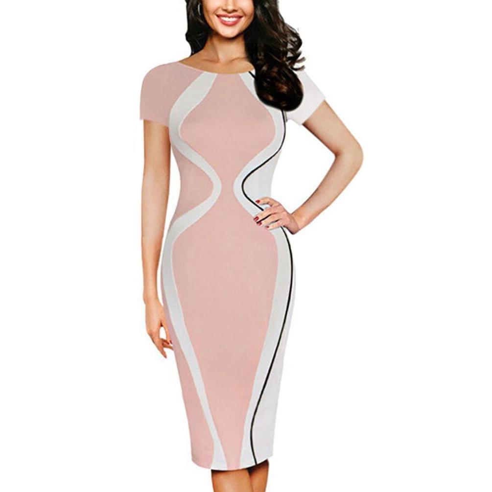 Women Bodycon Dress Plus Size, Vanvler Ladies Short Sleeve {Pencil Mini Dress} Business Office Dress Vanvler Dress