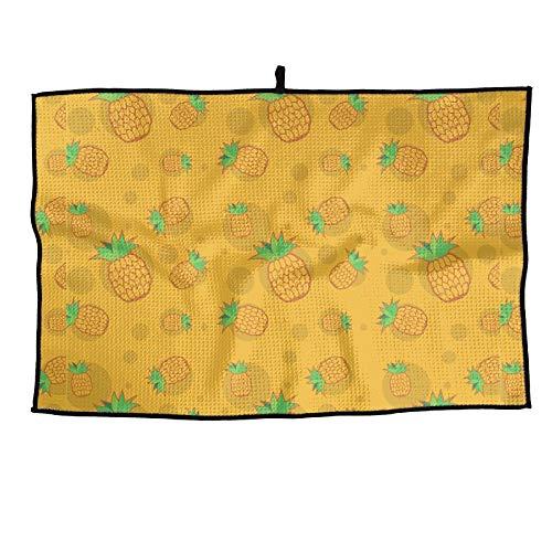 Shadidi Yellow Pineapple Microfiber Golf Towel Golf Clubs Cleaning Towel 15