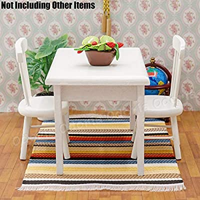 Odoria 1:12 Miniature Woven Carpet Dollhouse Decoration Accessories: Toys & Games