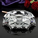Crystal Glass Ashtray Office Living Room Personality Ashtray, Gift Ashtray, Smoker