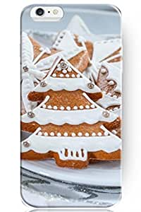 """ZLXUSA(TM) New Personalized Hard Cute Christmas Tree Shape Biscuits for iPhone 6 Plus (5.5"""") Case"""