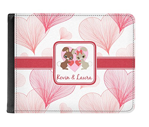 Men's amp; Hearts Bunnies Bi Wallet fold Leather Genuine Personalized w7OIdqpxOr
