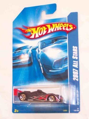 Hot Wheels Ferrari 333 SP #2007-139  Black And Red Collectible Collector Car 1:64 Scale