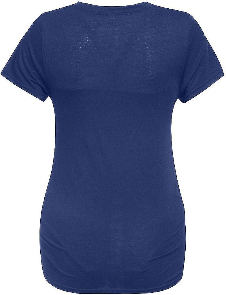 Schwangerschaft T-Shirt Damen Sommer Kurzarm Umstandsmode T-Shirts Cute Mutterschaft Kleidung Lustige Witzig Sp/ähen Baby Gedruckt Baumwolle Mutterschaft Tops