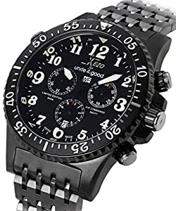 Xezo for unite4 good air commando swiss made divers pilots gunmetal chronograph for Xezo watches