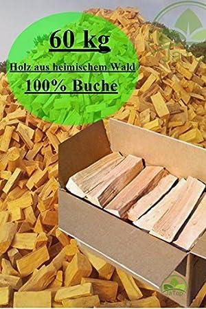 60kg leña 100% haya leña para estufa madera de fuego PREPARADO PARA HORNO kammergetrocknet 25-30cm: Amazon.es: Bricolaje y herramientas