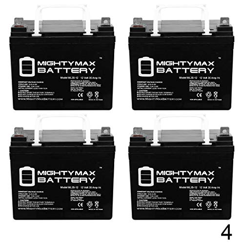 12V 35AH SLA Battery for Doorking Power Inverter 1000 - 4 Pack - Mighty Max Battery brand product