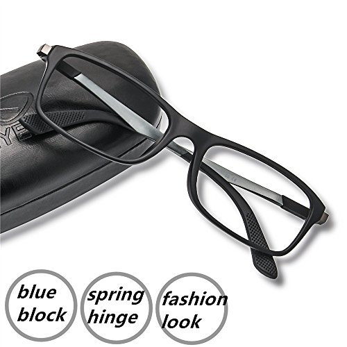 Computer Glasses - 2017 New Fashion EyeYee Spring Hinge Comfortable Gamers Glasses for Computer Use Blue Light Blocking Readers Anti Blue Rays Anti Glare Eyewear For Deep Sleep for Mens - Glasses Fashion 2017