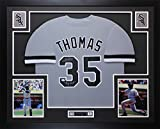 Frank Thomas Autographed Gray White Sox Jersey - Beautifully Matted and Framed - Hand Signed By Frank Thomas and Certified Authentic by Auto JSA COA - Includes Certificate of Authenticity