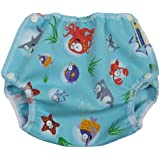 Mother-Ease One-Size Cloth Diaper Cover (Medium (10-20 lbs), Oceans2)
