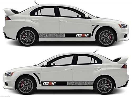 Awesome Mitsubishi Bomb Stripes Sticker Ralliart Mivec Lancer Evolution Outlander Evo  Jdm Japan   Buy Online In UAE. | Products In The UAE   See Prices, ...
