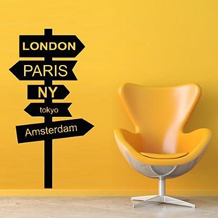Amazon.com: Wall Decal Decor Decals Art London Paris Ny Tokyo ...
