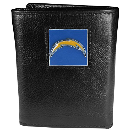NFL San Diego Chargers Genuine Leather Tri-fold - Football Chargers San Diego Leather