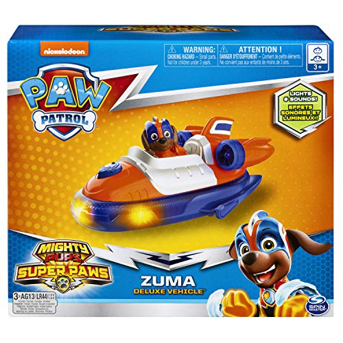Paw Patrol, Mighty Pups Super Paws Zuma's Deluxe Vehicle with Lights and Sounds - http://coolthings.us