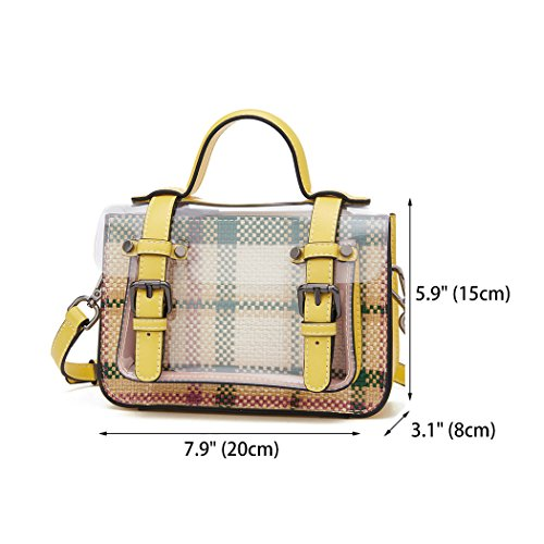 Bags Leather Handbags Bags Bags Shoulder Women's Yellow Cross Body Handle Faux Top OnEEZq