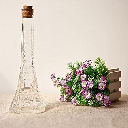 Torre Eiffel de París deseen botella de cristal del florero