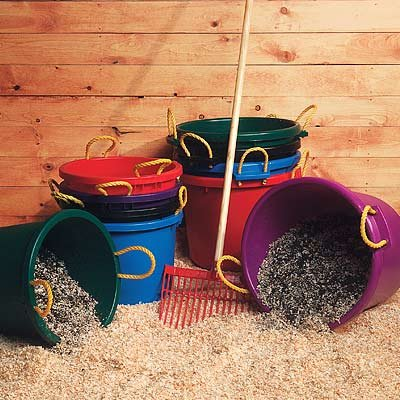 Fortiflex Multi Purpose Storage Bucket for Dogs/Cats and Horses, 70-Quart, Vivid Violet, My Pet Supplies
