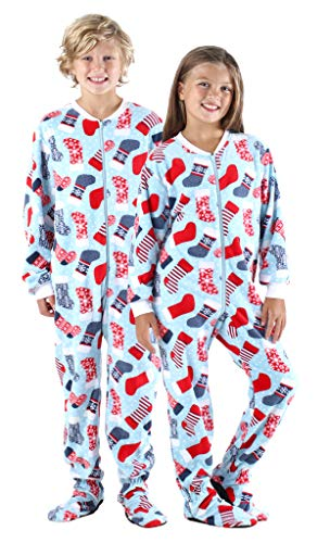 SleepytimePjs Baby, Toddler, and Kids' Fleece Footed Onesie Pajamas, Toddler Stockings - (ST717-K-3029-3T)