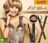 Cheap Clio Waterproof Brush Liner Set Plus Makeup Cleansing Oil, Kill Brown/002, 0.5 Ounce