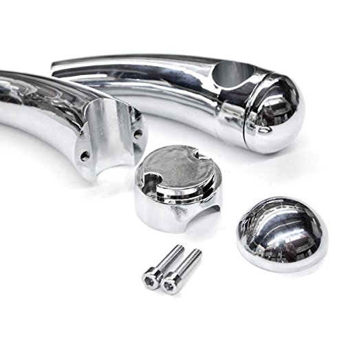 Krator Custom Chrome Motorcycle 1'' Handlebar 4.5'' Risers For Harley Davidson Dyna Super Glide Sport by Krator