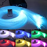 DMX 45W RGB 28key remote LED Fiber Optic star ceiling kit light 1000pcs 16.4ft 0.75mm for light fixture of ceiling