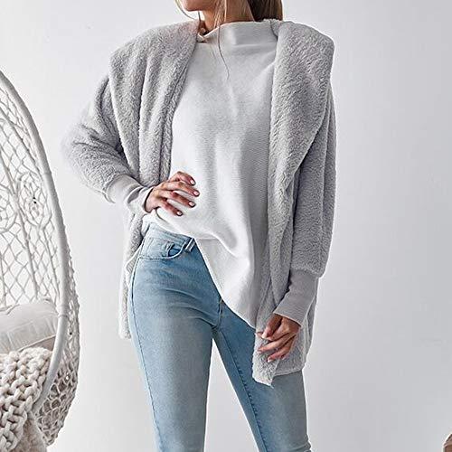 Femme Manche Longue Taille Capuche Manteau Sweat Peluche Aimee7 Pullover Gris À En Grande SnqUYw05