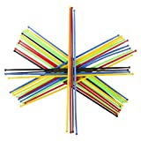 """Srenta 7"""" Colorful Pick-Up Sticks, Classic Tabletop Game - Traditional Old Game for Kids and Adults, Pack of 12"""