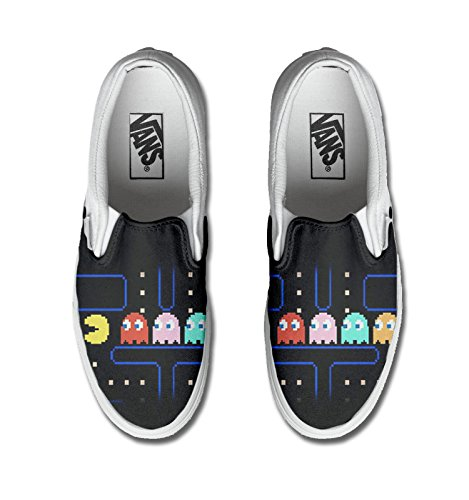 Vans Original, PRODUIT ARTISANAL, Sneakers Basses mixte adulte Multicolor Pacman Jeu