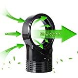 LUCKSTAR Bladeless Fan - Portable Mini Fan Electric Air Multiplier Safe Table Fan With Adapter Personal Cooler for Work Study Sleep (Black)