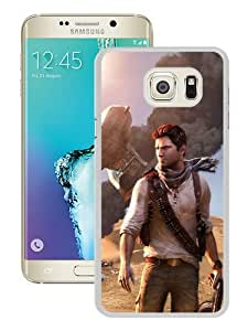 Samsung Galaxy S6 Edge Plus Case ,Uncharted Airplane Wildfire Crash Desert White Samsung Galaxy S6 Edge+ Cover Unqiue And Durable Custom Designed Phone Case