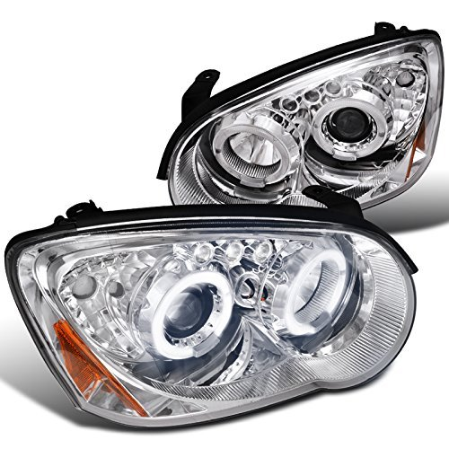 - Spec-D Tuning 2LHP-WRX05-TM Subaru Impreza Wrx Sti Jdm Clear Chrome Halo Led Projector Head Lights