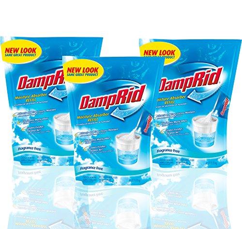 Flower Power Leather - DampRid Moisture Absorber 42oz Refill Bag Fragrance Free (Pack of 3)