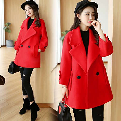 Winter Size Coat Women Paragraph Coat and Autumn WYF Cloak Was Long Thin in the Style Large Sleeved Red Loose Long of g6fEqHHx