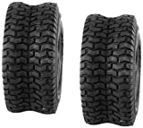 Set of 2 16x6.50-8 16-6.50-8 Turf Tires 4 Ply Tubeless Garden Tractor Lawn mower