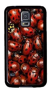 Samsung Galaxy S5 Nature Lady Bugs PC Custom Samsung Galaxy S5 Case Cover Black