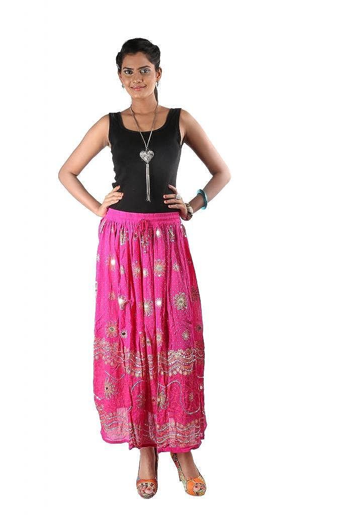 Indiankala4U - Falda - Mujer Rosa rosa fucsia 60 Más: Amazon.es ...