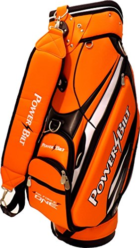 NEW PowerBilt Golf Air Force One N7 Air Foil Staff Bag 5-way Top Orange / Black (Powerbilt Air)