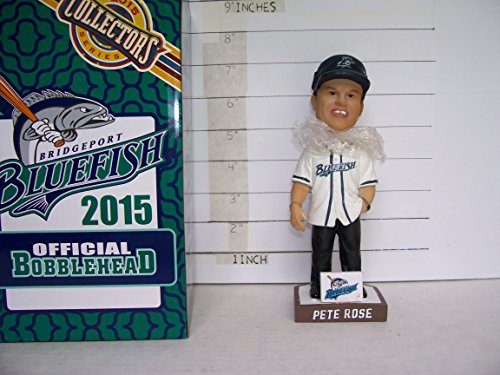 - 2015 PETE ROSE BRIDGEPORT BLUEFISH SEASON TICKET HOLDER BOBBLEHEAD MINT