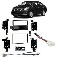 Fits Nissan Versa S/S+/SV 2014 w/o Options Multi DIN Harness Radio Dash Kit