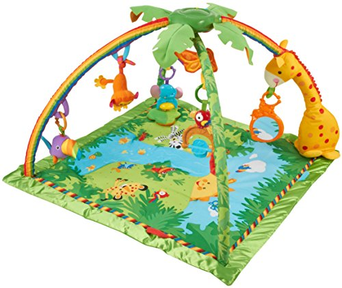 Fisher price rainforest melodies and lights deluxe gym in - Tapis d eveil fisher price zoo deluxe ...