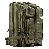 Tactical Backpack - HUKOER 17.7''x 9.9''x 9'' Tactical Rucksack - Fashionable 30L Multiple Colors Outdoor Tactical Shoulder Hiking Daypack Military Backpack Perfect for Young Camping Trekking Hunting (Army green)