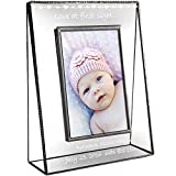 J Devlin Pic 319-46V EP558 Baby Love at First Sight Personalized Picture Frame Tabletop 4 x 6 Vertical Engraved Glass Keepsake Gift