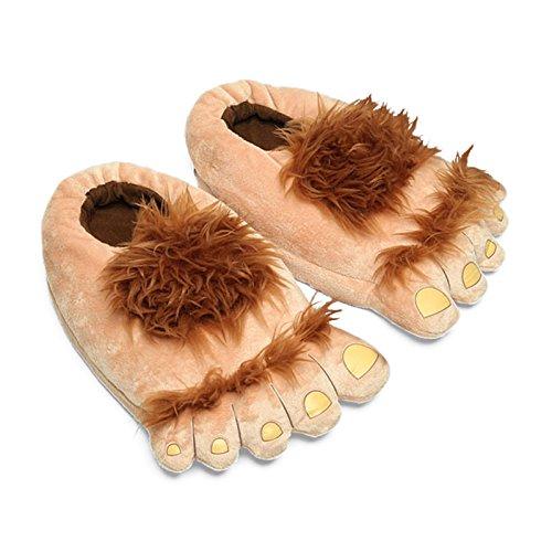 Plüsch-Halblingsfüsse Pantoffeln Hobbit Füße - 44-46
