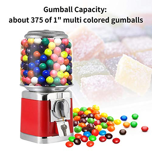Gumball Machine Metal Gumball Candy Vending Machine Removable Canisters Capsule Bouncy Ball Gumball Vending Dispenser Machine by Dyna-Living (Image #2)