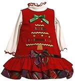 Bonnie Baby Girls' Corduroy Jumper Set With Tiered Skirt