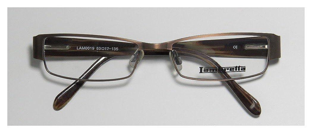 Lambretta Lam0019 Mens//Womens Rectangular Full-rim Spring Hinges Comfortable Stylish Modern Eyeglasses//Eyeglass Frame